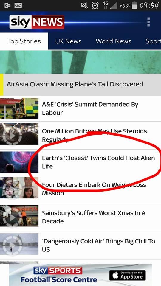 Aliens in the Headlines