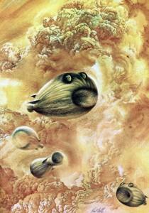 Carl Sagan's potential atmospheric Beasts of Jupiter.