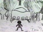 School Children Witness Non-Human Beings & A Large Craft Landing