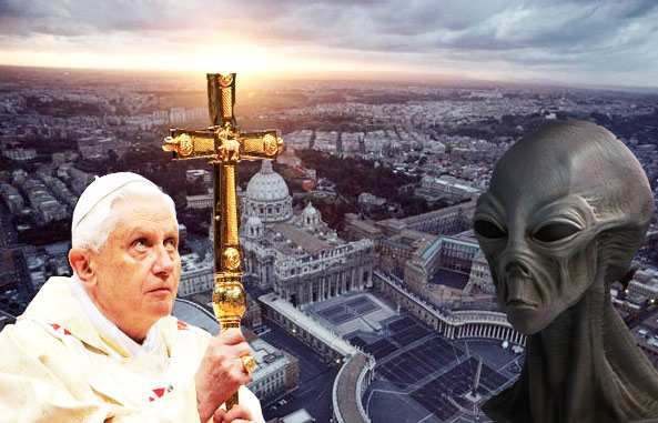 Some believed that the previous Pope was going to confirm the Vatican's knowledge of Aliens.