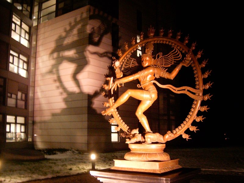 The Dancing Shiva statue unveiled at CERNs head office!