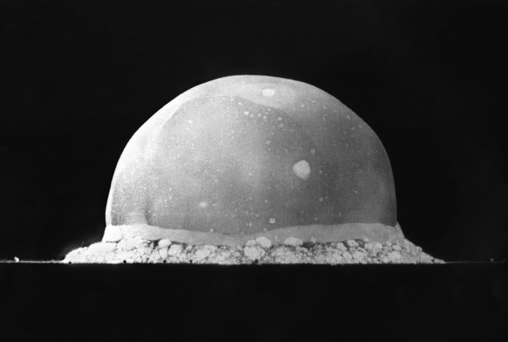 The 'Trinity Test' said to be one of the first nuclear weapons tests, is said to have had UFO's watching over it.
