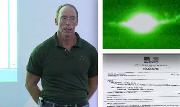 Steven Greer reveals a document he claims confirms French MoD officials saw aliens - Photos courtesy of Steven Greer/Daily Express