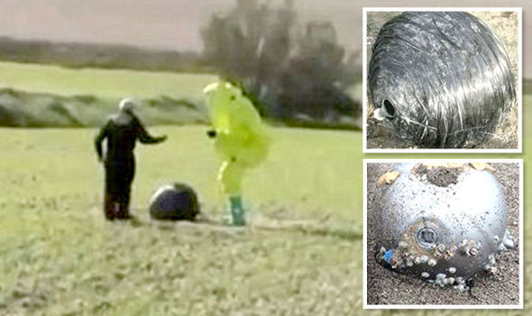 UFO Hits Earth – Whilst Strange Metal Orbs Are Falling Around Us? A35