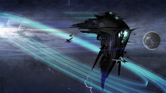Alien probes in space, possibly sent by advanced civilizations