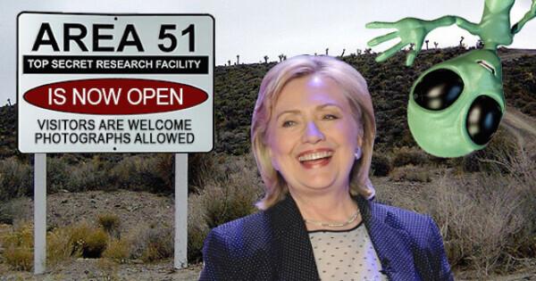 Хиллари Клинтон пообещала рассекретить НЛО