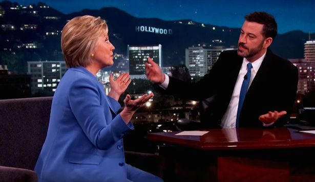 Hillary Clinton was speaking about UFOs on Jimmy Kimmel Live